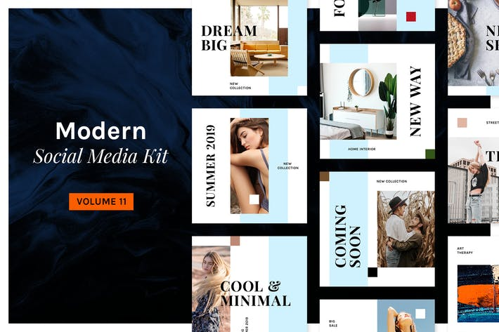 Thumbnail for Modern Social Media Kit (Vol. 11)