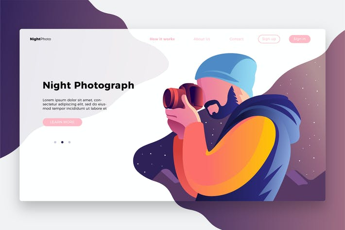 Thumbnail for Photography Night-Banner & Landing Page