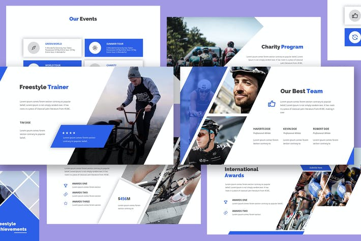 Thumbnail for Cyclope - Bicycle Keynote Template