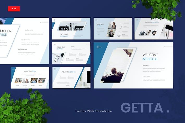Getta - Investor Pitch Deck Powerpoint Template