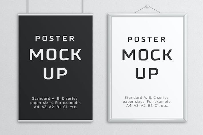 Thumbnail for Poster Mock Up – A/B/C Paper Sizes