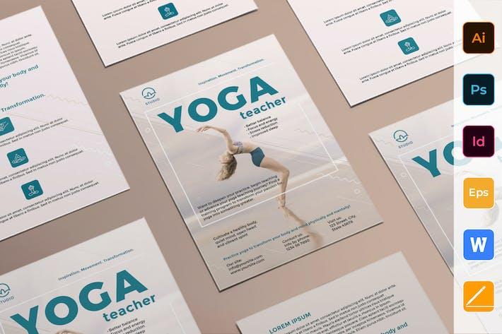 Thumbnail for Yoga Instructor Flyer