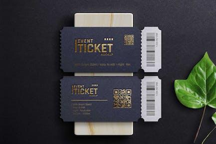 Mockup - Luxury Event Ticket