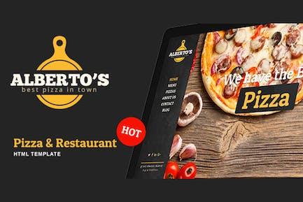 Albertos - Restaurant & Pizza HTML Template