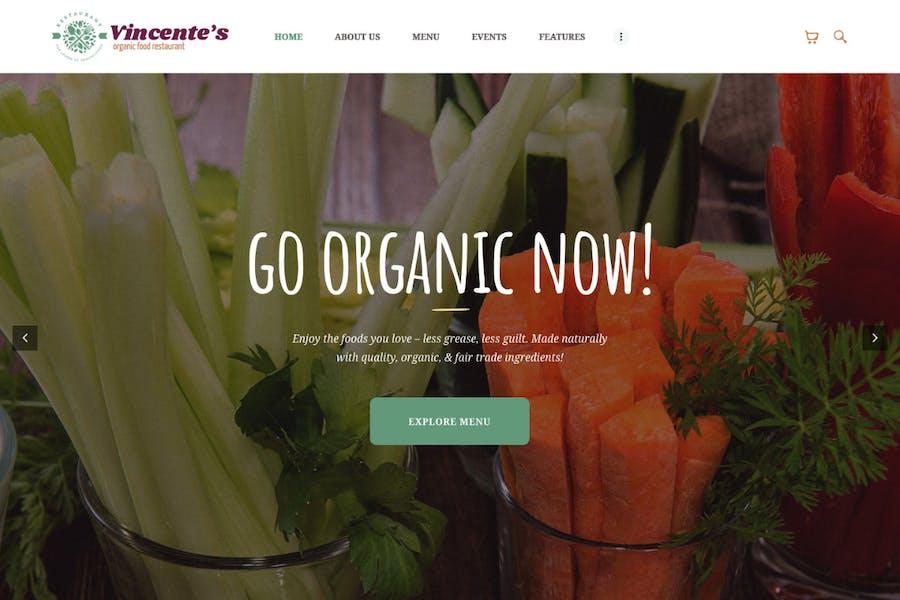 Vincente's |Organic Food Restaurant & Eco Cafe WP