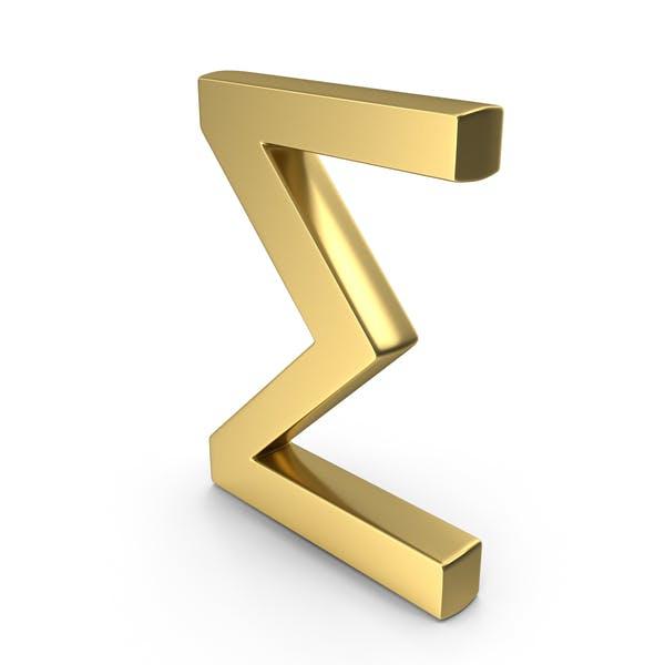 Sigma-Symbollogo-Symbol in Großbuchstaben
