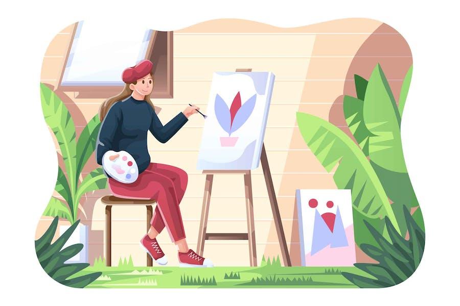 Malen Sie Künstler Abbildung
