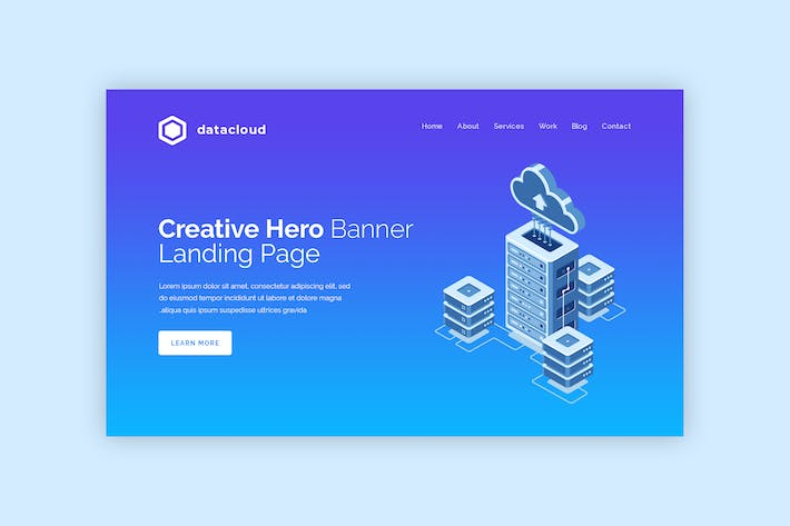 Datacloud - Hero Banner Template