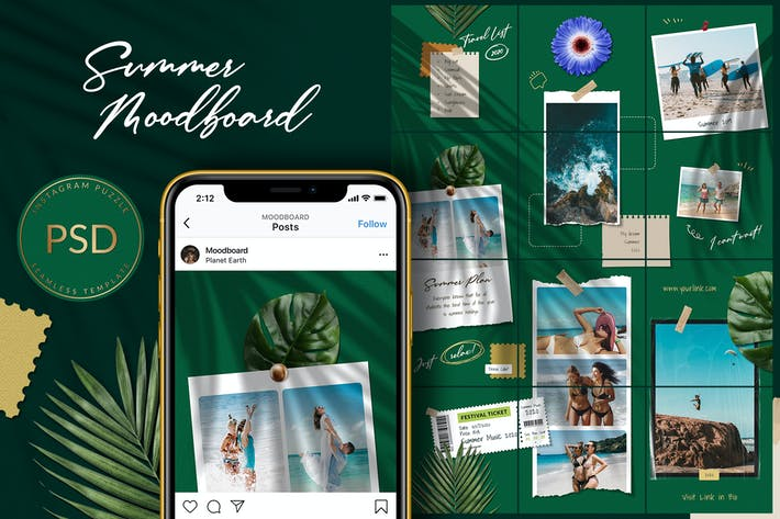 Thumbnail for Summer Moodboard Instagram Puzzle