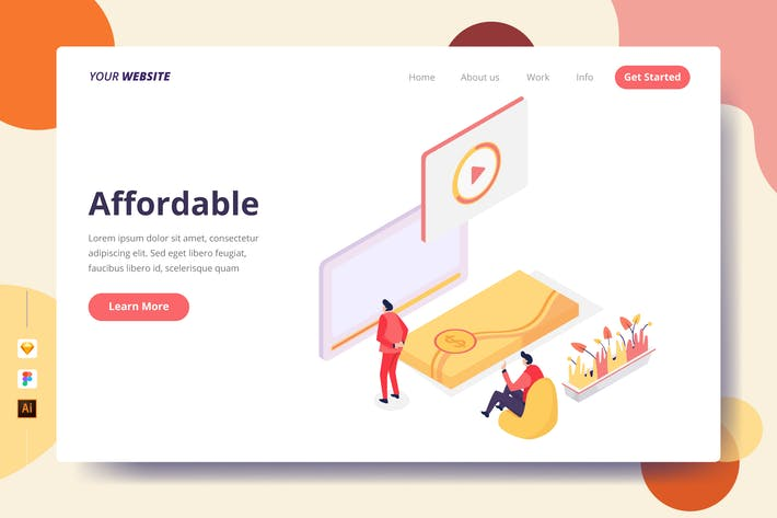 Thumbnail for Affordable - Landing Page