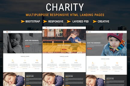 CHARITY - Responsive HTML Landing Pages