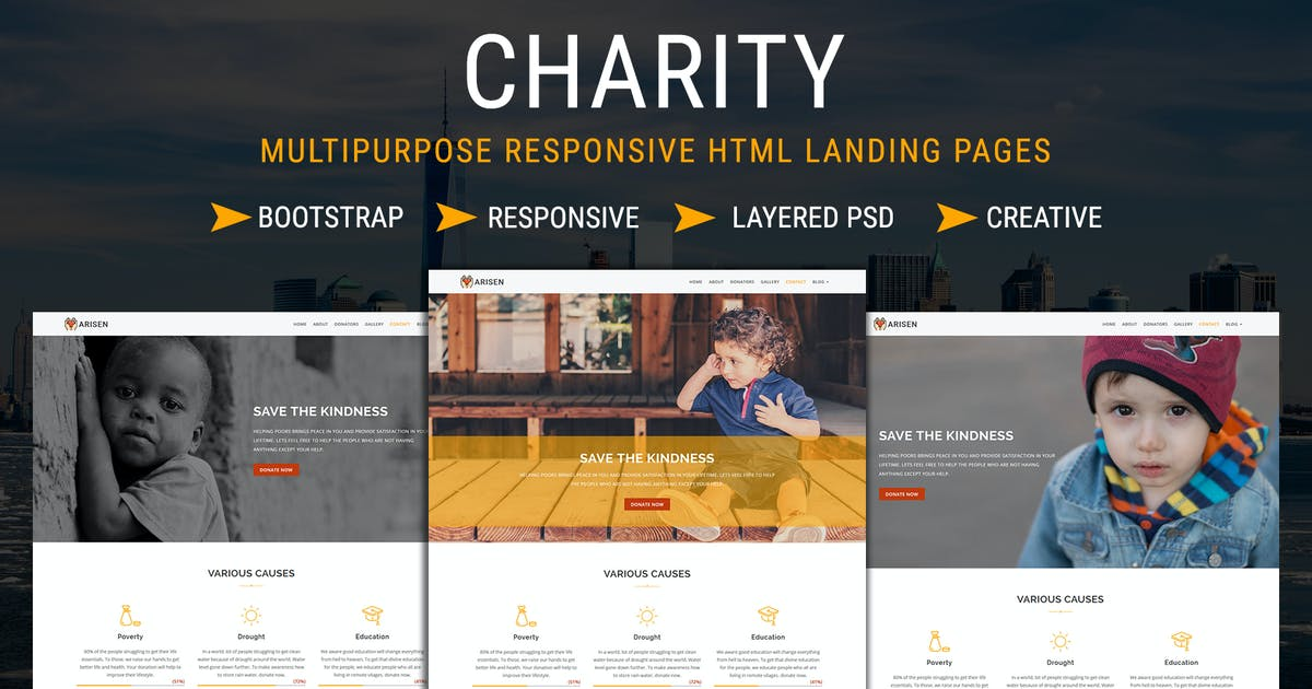 Download CHARITY - Responsive HTML Landing Pages by pennyblack