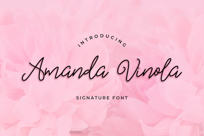 Thumbnail for Amanda Vinola Handwritten Script Font