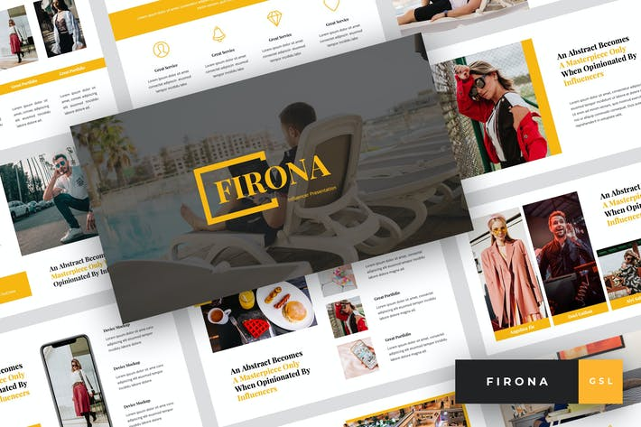 Thumbnail for Firona - Influencer Google Slides Template