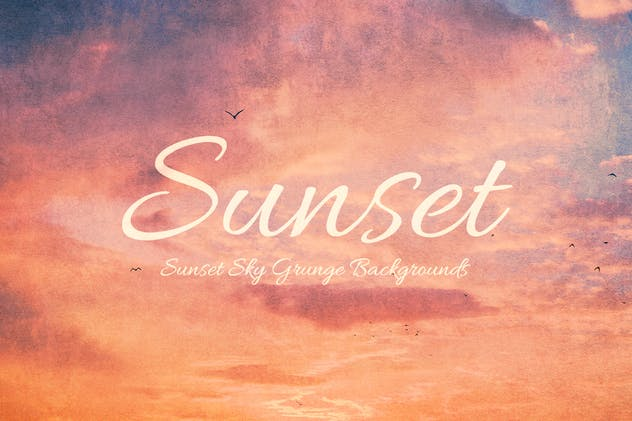 Sunset Sky Grunge Backgrounds