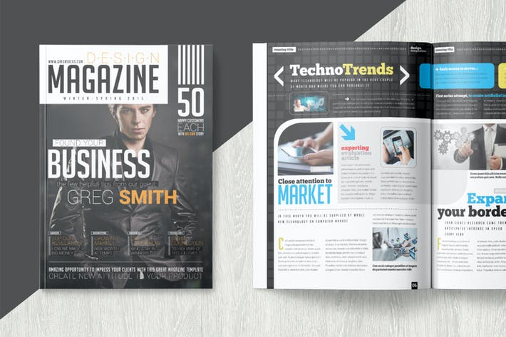 Magazine template by becreative on envato elements thumbnail for magazine template accmission Image collections