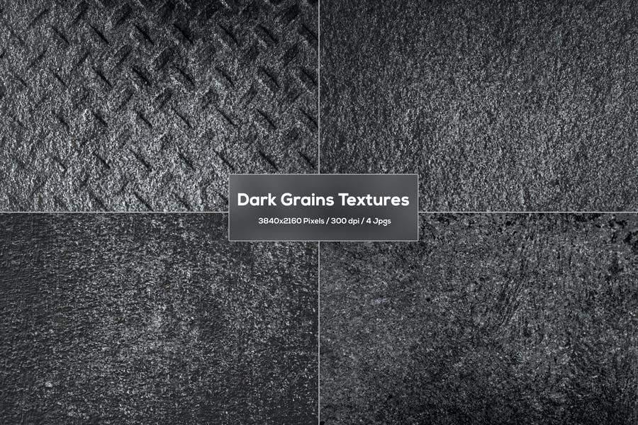 Dunkle Körner Texturen
