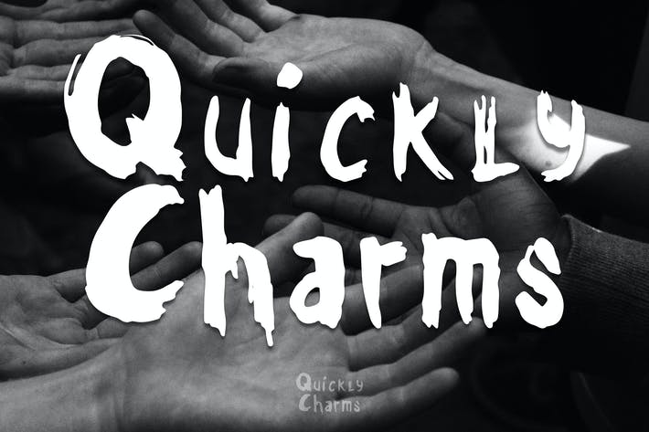 Thumbnail for Quickly Charms - Brush Font