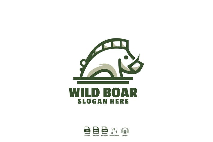 Thumbnail for Wild Boar Logo Template