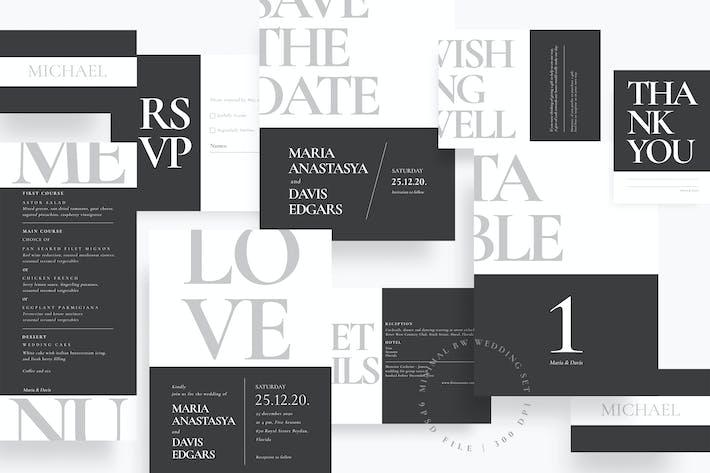 Thumbnail for Ensemble de mariage minimaliste BW AE