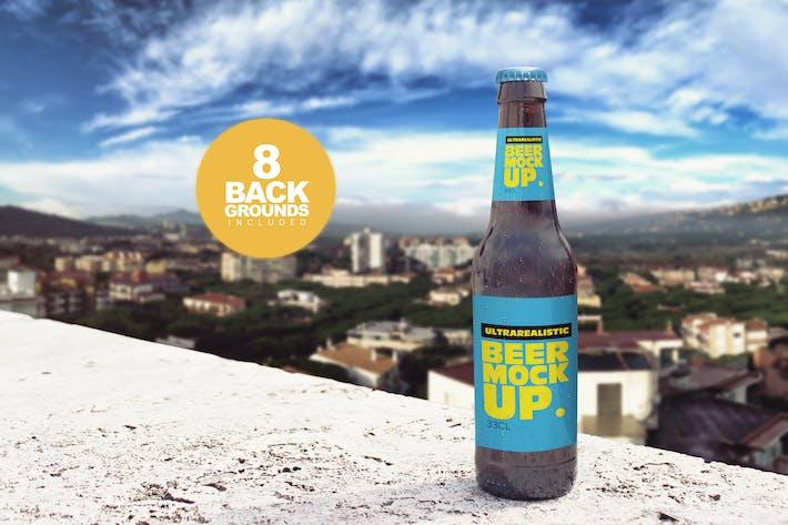 Thumbnail for Backgrounds Beer Bottle Mockup