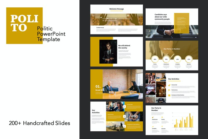 Thumbnail for Polito - Politics PowerPoint Templates