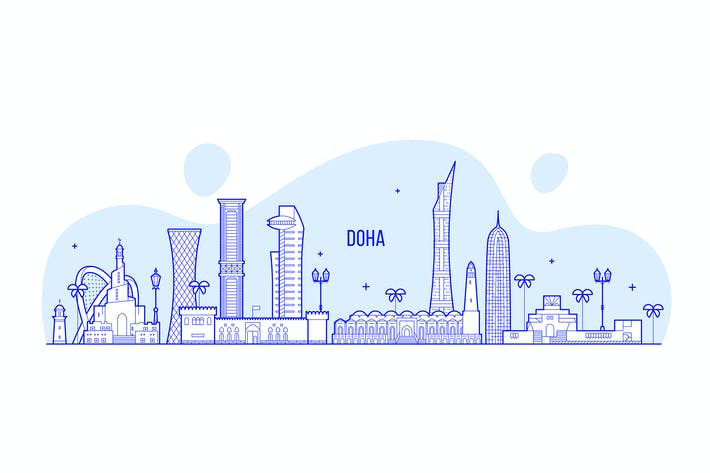 Thumbnail for Doha skyline, Qatar