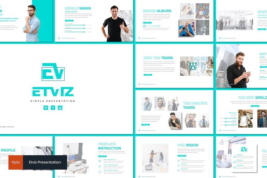 Etviz - Простой Шаблон Powerpoint