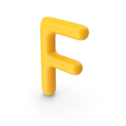 Letter F Orange
