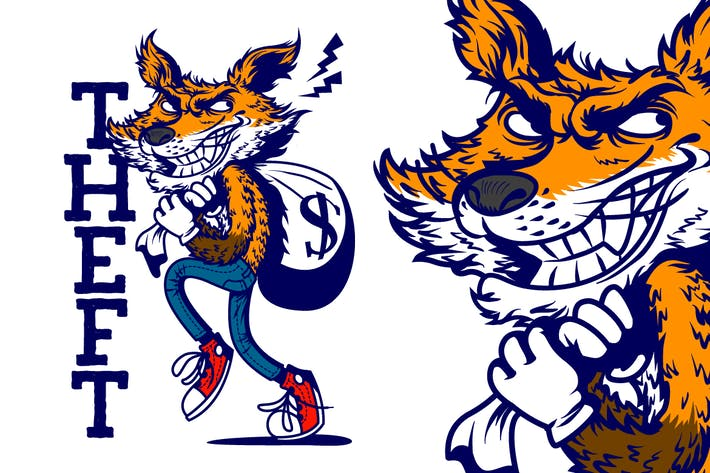 Thumbnail for Fox Robber Tshirt Graphic