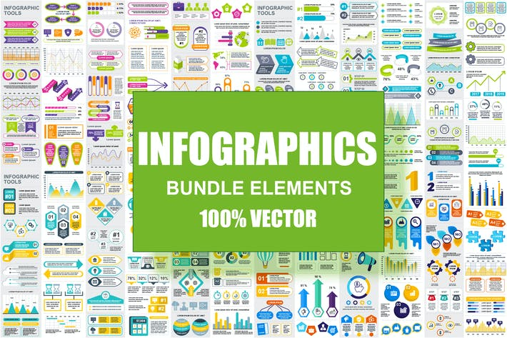 Thumbnail for Infographic Elements Template Info Graphics