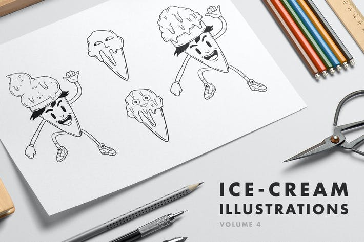 Thumbnail for Ice-cream Illustrations - Volume 4