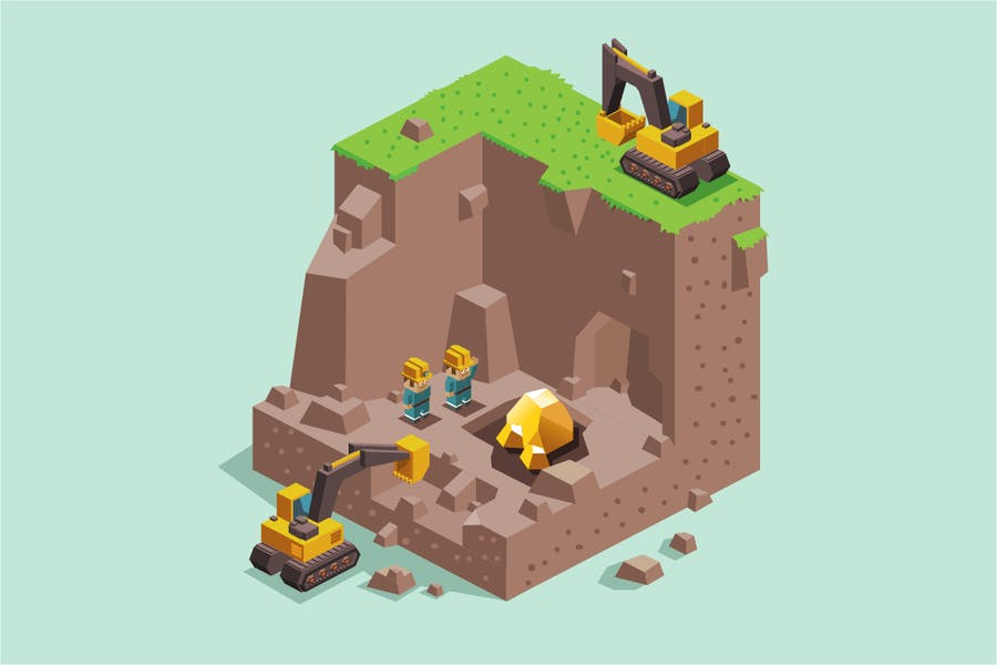Land dig for Gold Mining