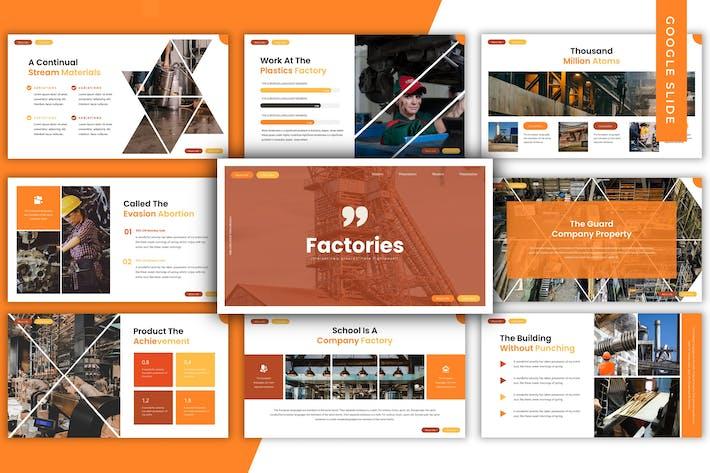 Thumbnail for Factories  - Google Slides Template