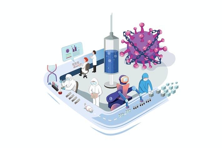 Thumbnail for Producción de Vacunas Coronavirus - Concepto COVID19