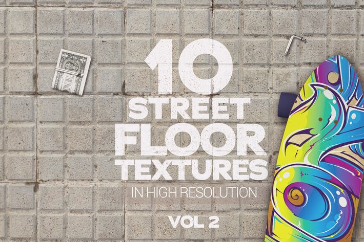 Thumbnail for Street Floor Texturen x10 Vol 2