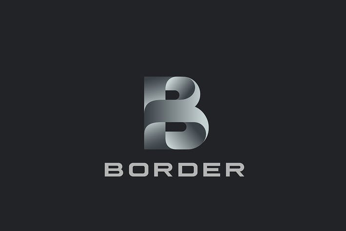 Letter B Logo design Ribbon style