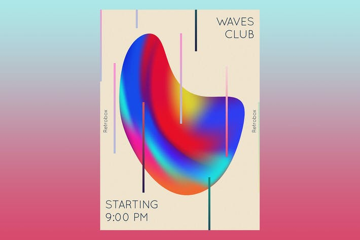Thumbnail for Waves Club Flyer Poster