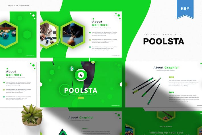 Thumbnail for Poolsta | Шаблон Keynote