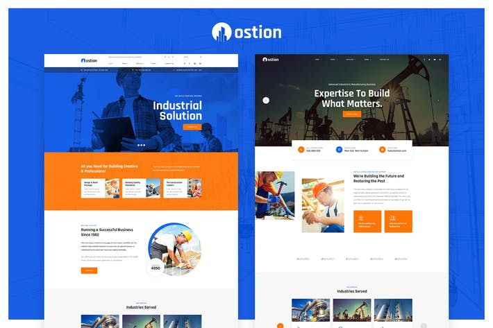 Thumbnail for Ostion - Construction & Industry Company PSD