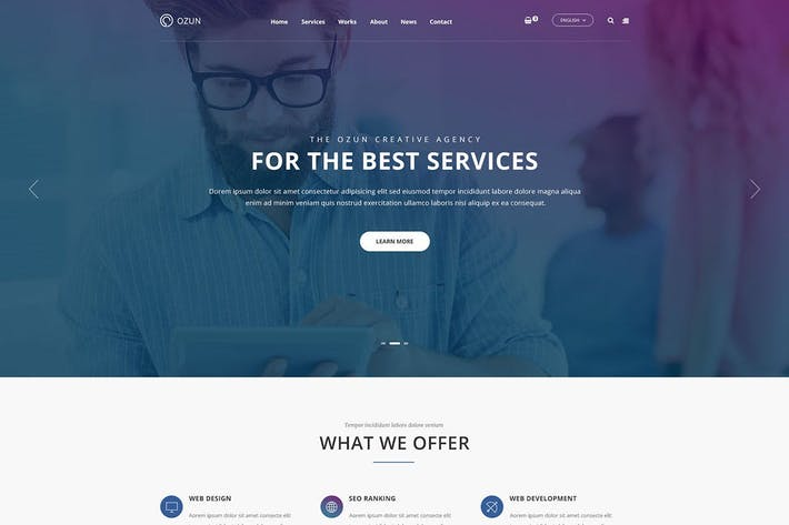 Thumbnail for OZUN - Multipurpose HTML Template