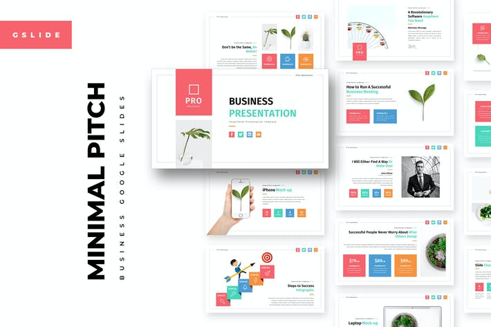Minimal Pitch Google Slides