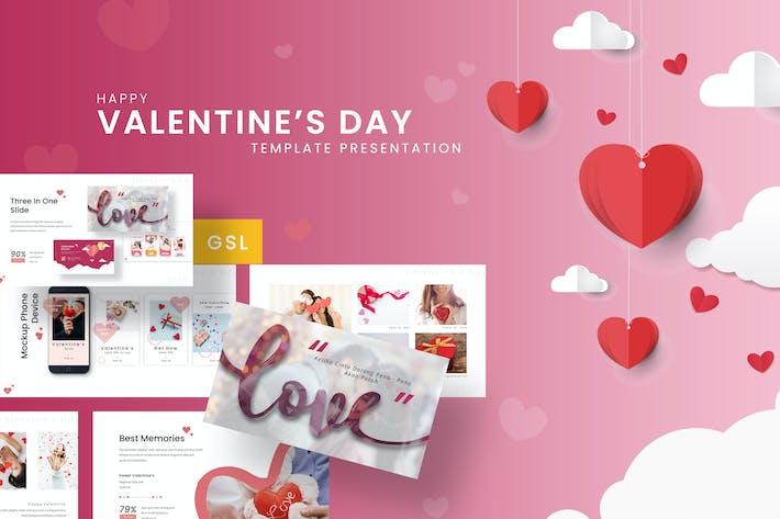 Thumbnail for Happy Valentine - Romantic Google Slides Template