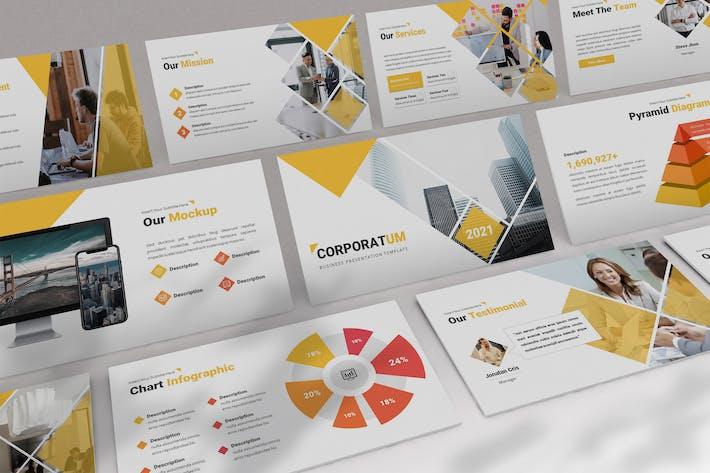 Corporatum - Annual Report Powerpoint Template