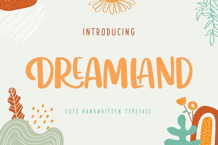 Thumbnail for Dreamland | Menace de caractères manuscrite mignonne