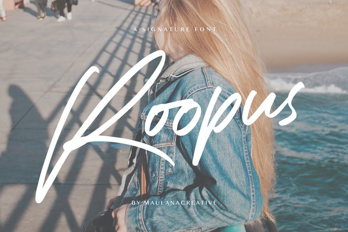 Thumbnail for Roopus Signature Font
