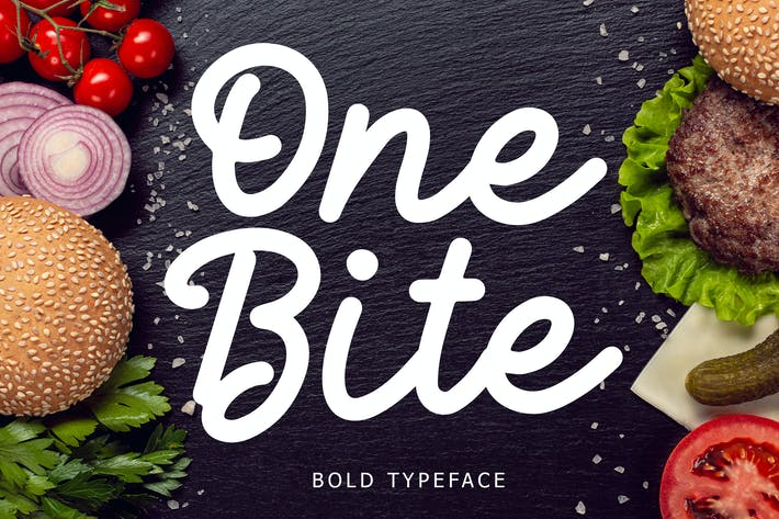 One Bite Bold Calligraphy Font