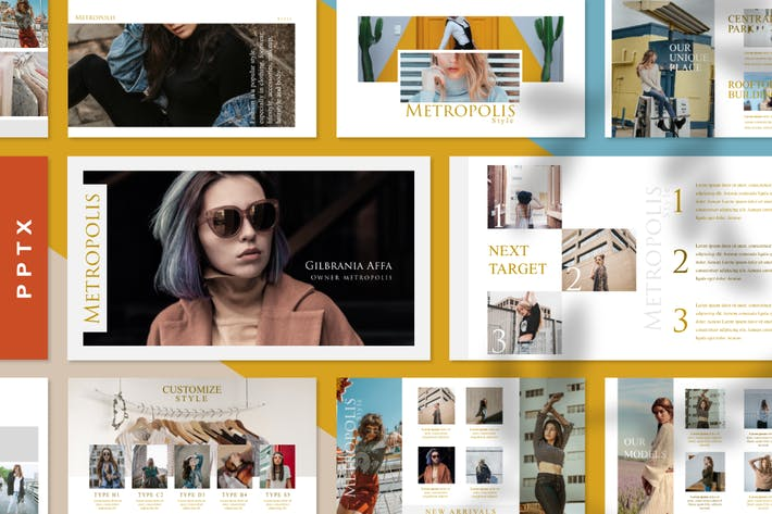 Thumbnail for Metropolis Style - Fashion Powerpoint Template