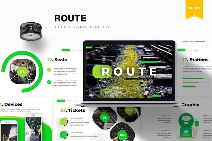 Thumbnail for Route | Google Slides Template