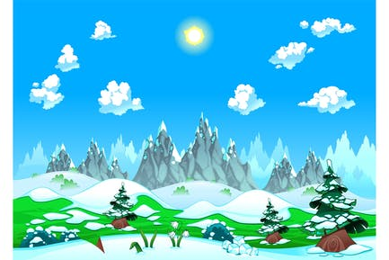 Horizontal Nieve asícomo montañas